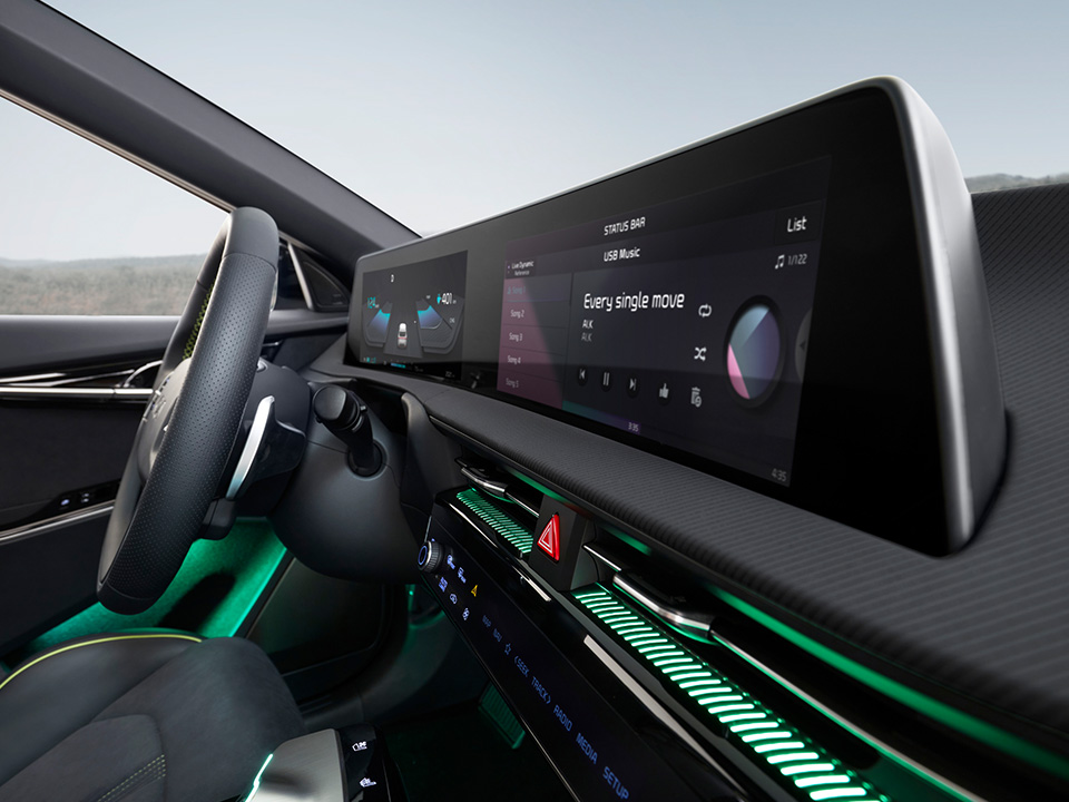 Interacțiune captivantă și intuitivă pentru șofer